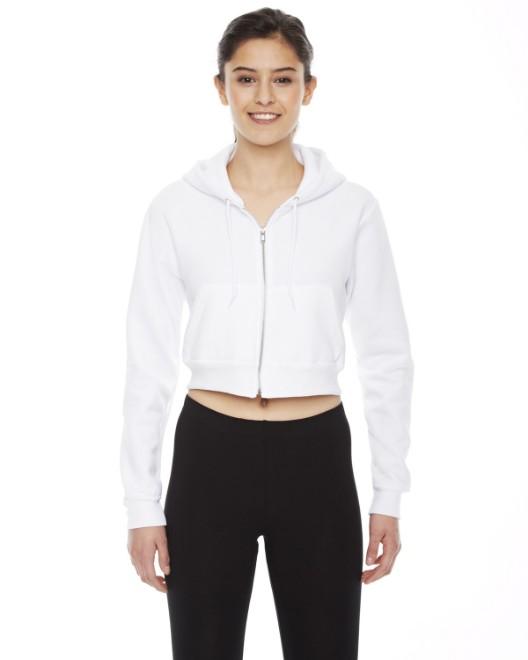 Picture of American Apparel F397W Womens Cropped Flex Fleece Zip Hoodie