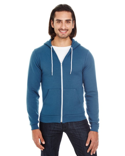 Picture of American Apparel F497 Unisex Flex Fleece USA Made Zip Hoodie