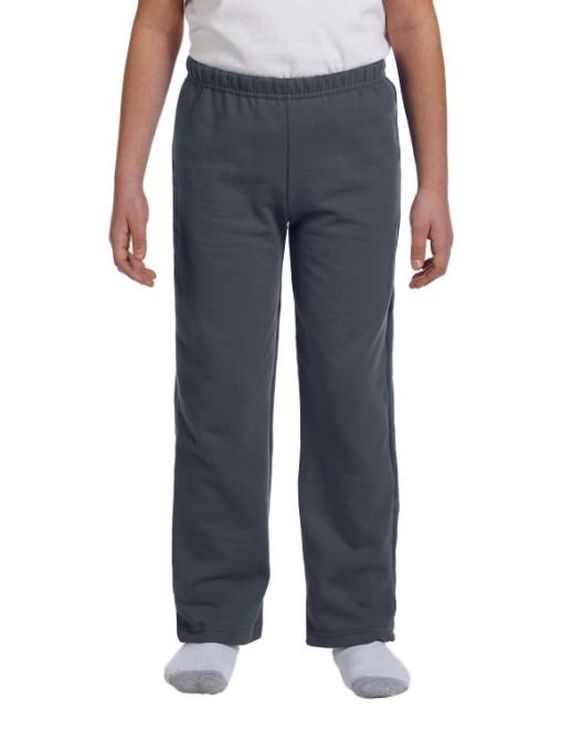 Picture of Gildan G184B Youth Heavy Blend 8 oz., 50/50 Open-Bottom Sweatpants