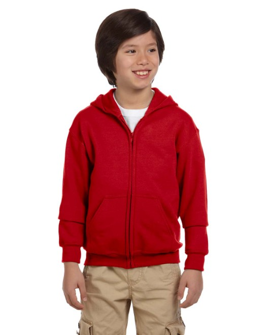 Picture of Gildan G186B Youth Heavy Blend 8 oz., 50/50 Full-Zip Hood