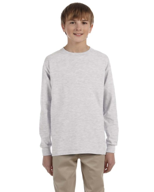 Picture of Gildan G240B Youth Ultra Cotton 6 oz. Long-Sleeve T-Shirt
