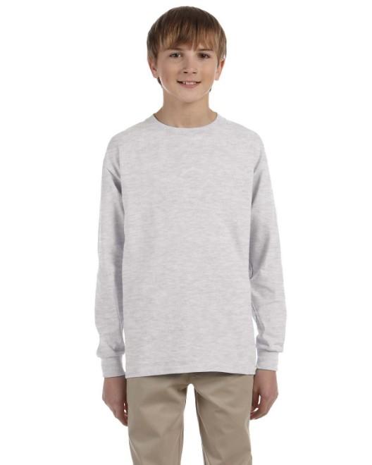 Picture of Gildan G240B Youth Ultra Cotton 6 oz. Long-Sleeve T-Shirt