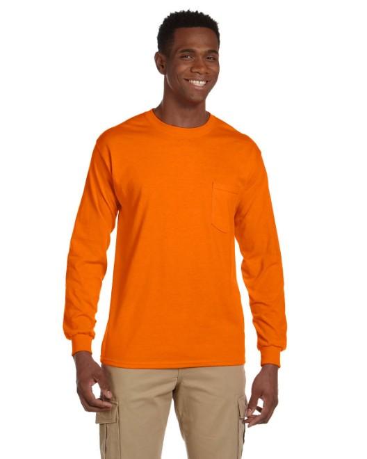 Picture of Gildan G241 Adult Ultra Cotton 6 oz. Long-Sleeve Pocket T-Shirt