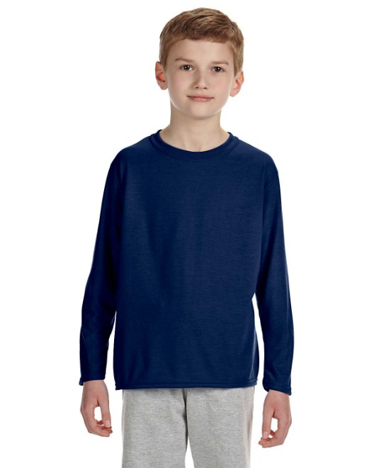 Picture of Gildan G424B Youth Performance Youth 5 oz. Long-Sleeve T-Shirt