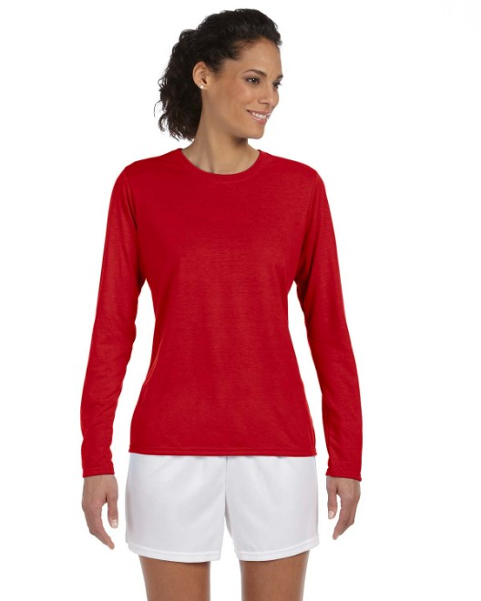 Picture of Gildan G424L Ladies' Performance Ladies' 5 oz. Long-Sleeve T-Shirt