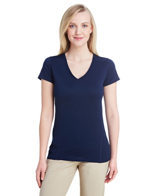 Picture of Gildan G47V Womens Performance Womens 4.7 oz. V-Neck Tech T-Shirt