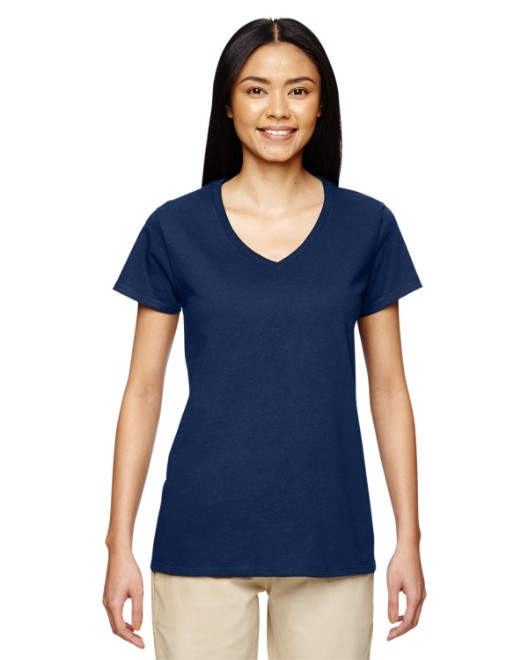 Picture of Gildan G500VL Ladies'  5.3 oz. V-Neck T-Shirt