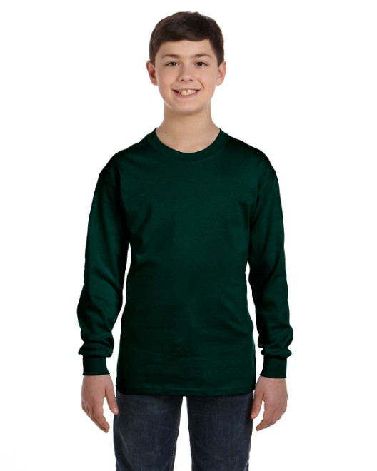 Picture of Gildan G540B Youth 5.3oz. Long-Sleeve T-Shirt