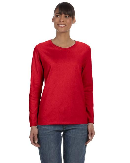 Picture of Gildan G540L Ladies'  5.3 oz. Long-Sleeve T-Shirt