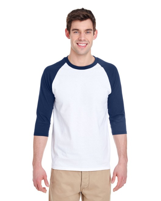 Picture of Gildan G570 Adult 5.3 oz. 3/4-Raglan Sleeve T-Shirt
