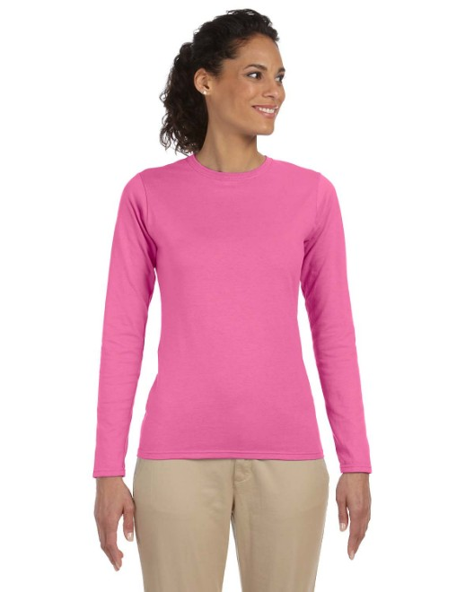 Picture of Gildan G644L Ladies' Softstyle  4.5 oz. Long-Sleeve T-Shirt