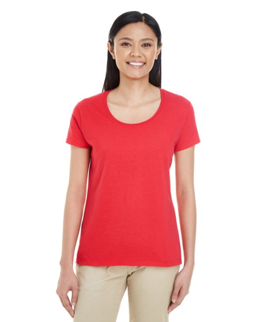 Picture of Gildan G6455L Womens Softstyle  4.5 oz. Deep Scoop T-Shirt