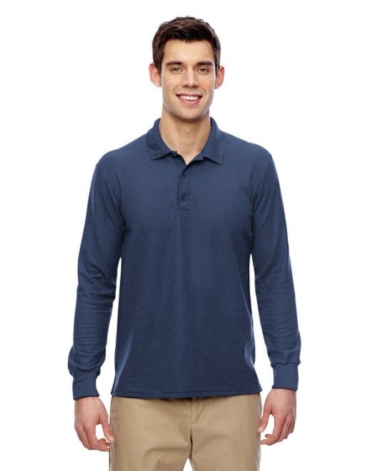 Picture of Gildan G729 Adult 6 oz. Double Pique Long-Sleeve Polo