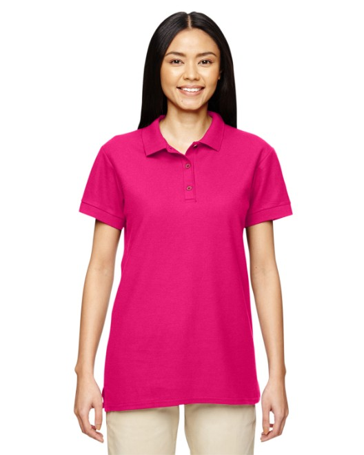 Picture of Gildan G828L Womens  Premium Cotton Womens 6.6 oz. Double Pique Polo