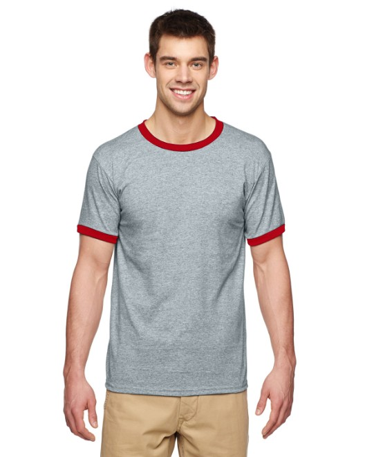 Picture of Gildan G860 Adult 5.5 oz. Ringer T-Shirt