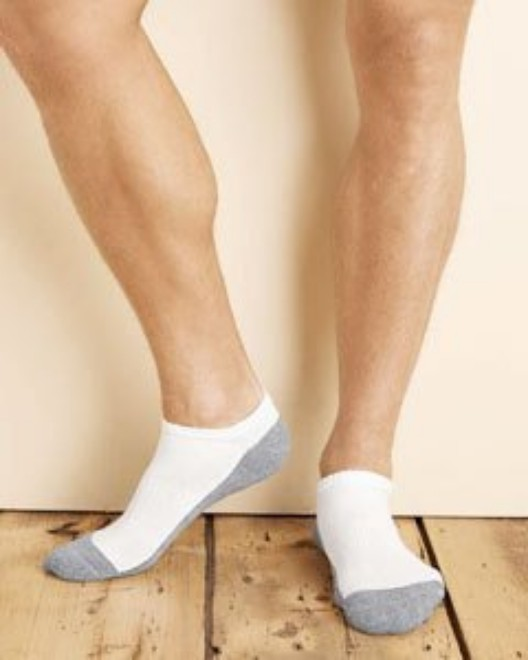 Picture of Gildan GP711 Adult Platinum Adult No Show Socks