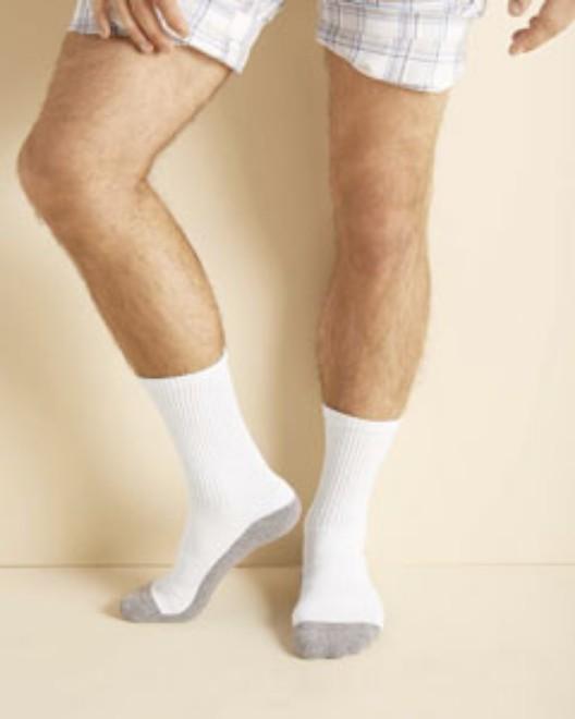 Picture of Gildan GP751 Adult Platinum Adult Crew Socks