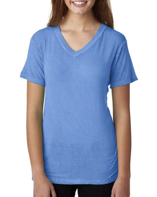 Picture of J America JA8132 Womens Oasis Wash V-Neck T-Shirt