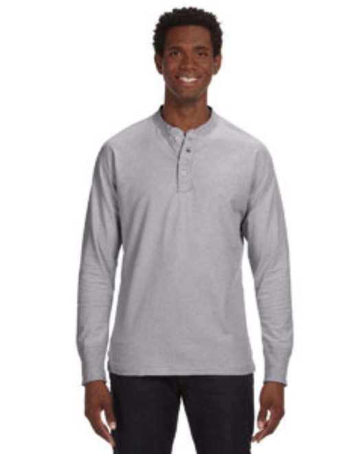 Picture of J America JA8244 Men's Vintage Brushed Jersey Henley