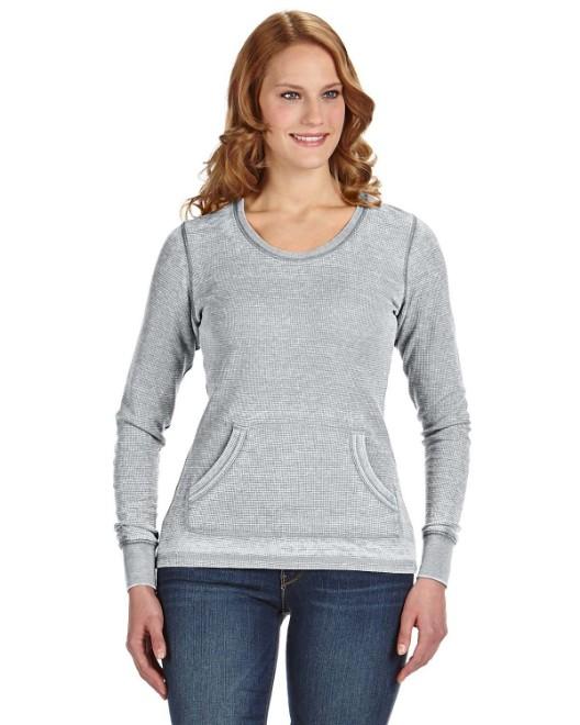 Picture of J America JA8255 Womens Zen Thermal Long-Sleeve T-Shirt