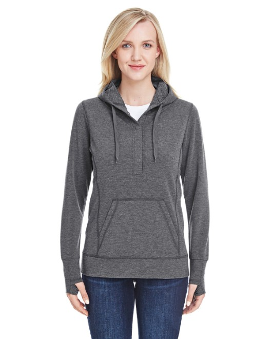 Picture of J America JA8431 Womens Omega Stretch Snap-Placket Hood