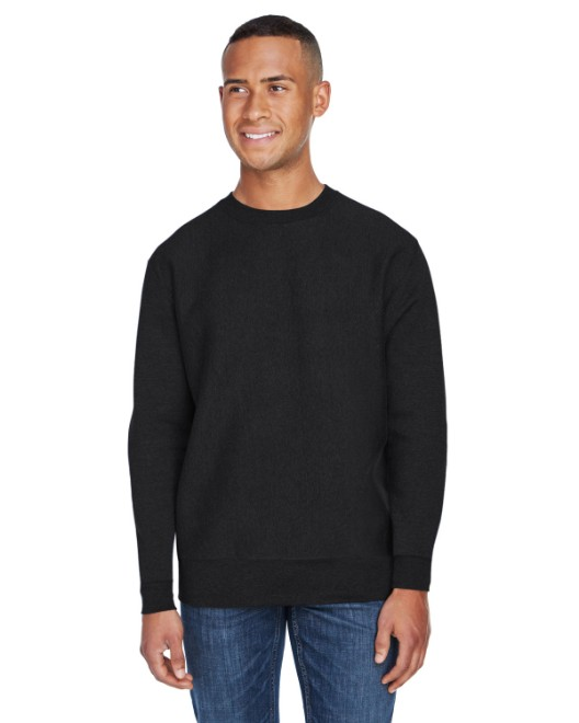 Picture of J America JA8446 Adult Sport Weave Crew Neck Sweatshirt
