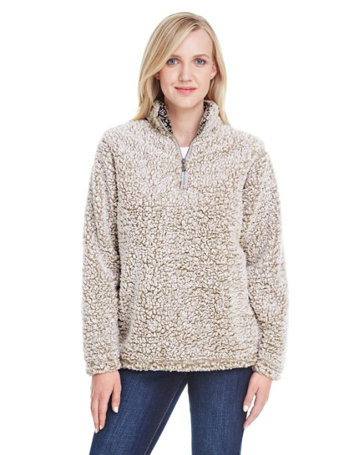 Picture of J America JA8451 Ladies Epic Sherpa 1/4 Zip