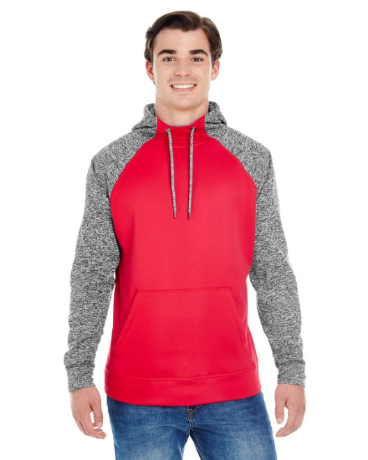 Picture of J America JA8612 Adult Colorblock Cosmic Pullover Hood