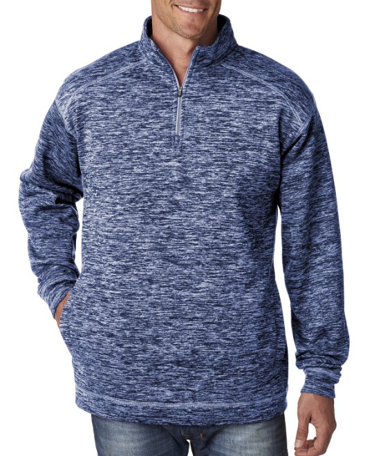 Picture of J America JA8614 Adult Cosmic Poly Fleece Quarter-Zip