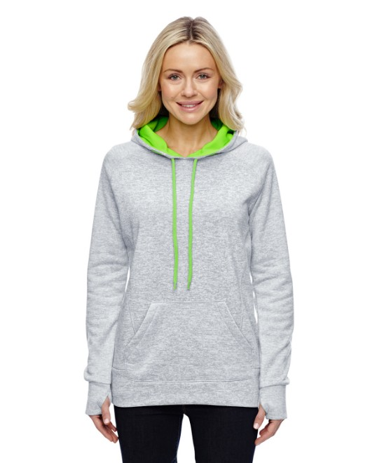 Picture of J America JA8616 Womens Cosmic Contrast Fleece Hood