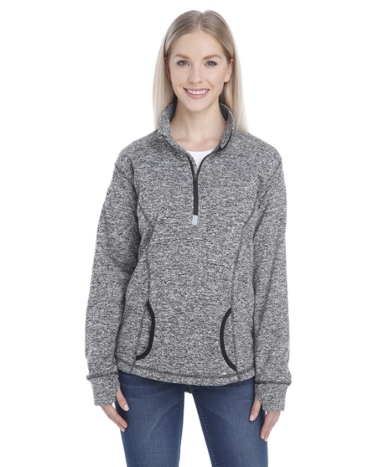 Picture of J America JA8617 Womens Cosmic Fleece Quarter-Zip