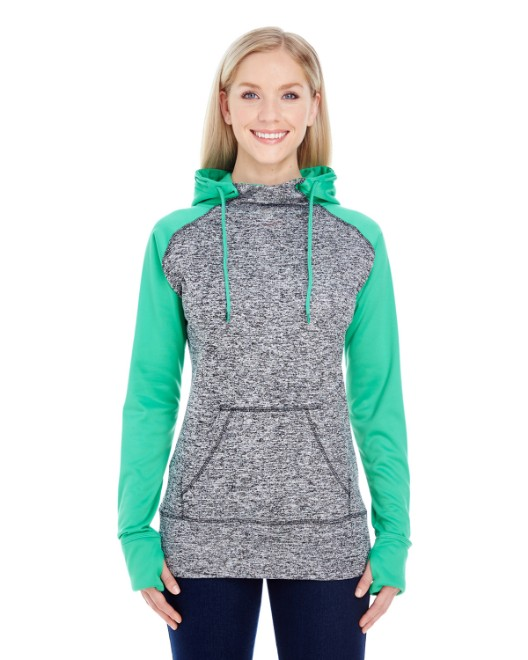 Picture of J America JA8618 Womens Colorblock Cosmic Hood