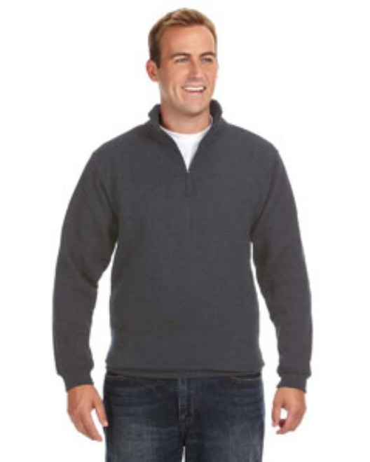 Picture of J America JA8634 Adult Heavyweight Fleece Quarter-Zip