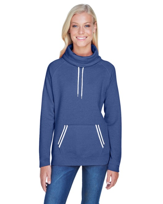 Picture of J America JA8653 Womens Relay Cowl Neck
