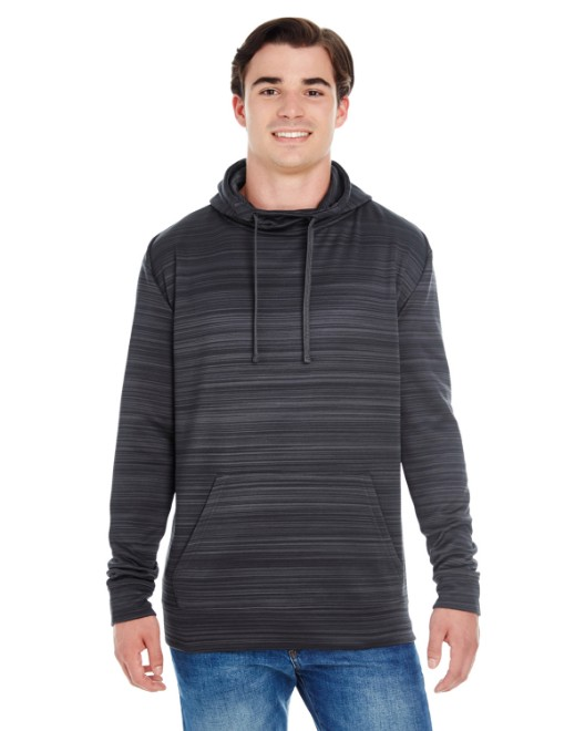 Picture of J America JA8661 Adult Odyssey Striped Poly Fleece Pullover Hood