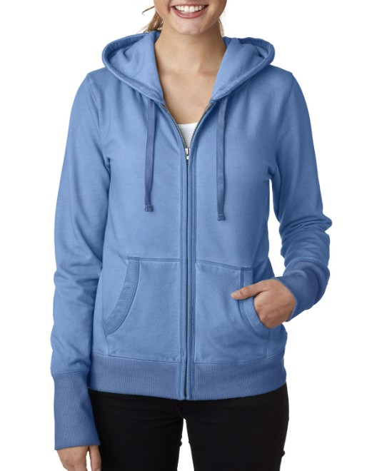Picture of J America JA8665 Womens Oasis Wash Full-Zip Hood