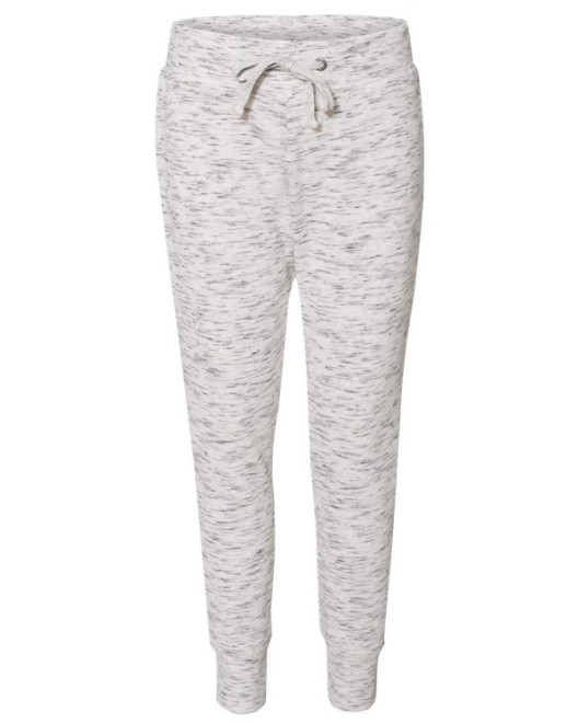 Picture of J America JA8675 Womens Melange Fleece Jogger Pant