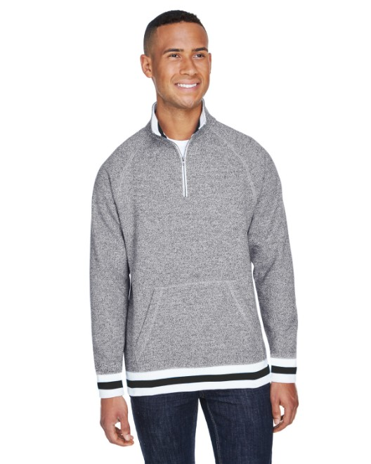 Picture of J America JA8703 Adult Peppered Fleece Quarter-Zip