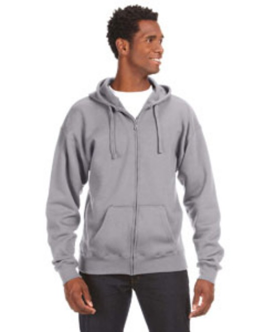 Picture of J America JA8821 Adult Premium Full-Zip Fleece Hood