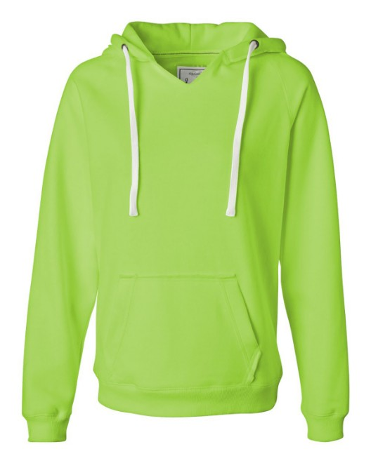Picture of J America JA8836 Womens Sydney Brushed V-Neck Hood