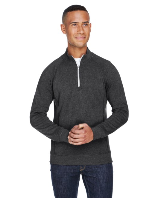 Picture of J America JA8869 Adult Triblend Fleece Quarter-Zip