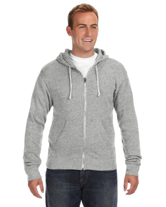 Picture of J America JA8872 Adult Triblend Full-Zip Fleece Hood