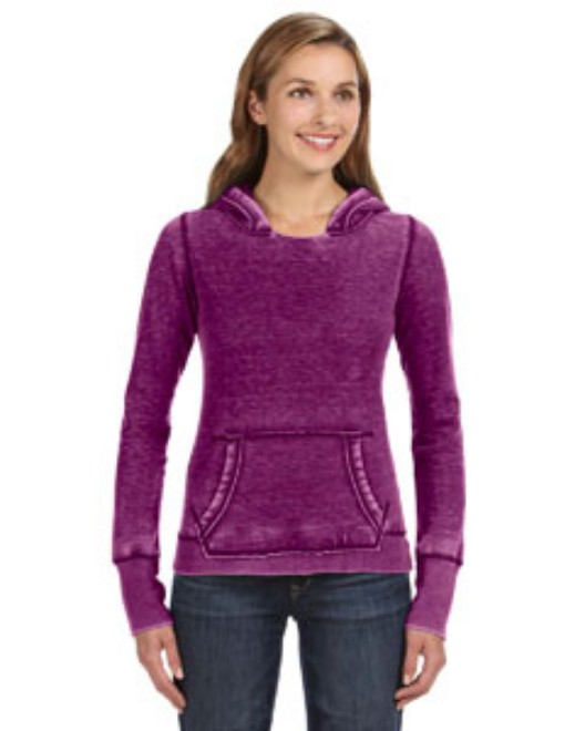 Picture of J America JA8912 Womens Zen Pullover Fleece Hood