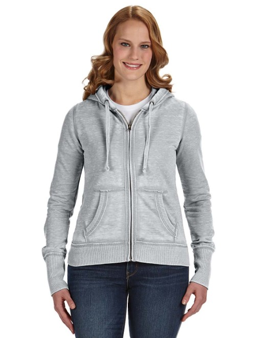 Picture of J America JA8913 Womens Zen Full-Zip Fleece Hood