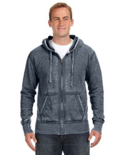 Picture of J America JA8916 Adult Vintage Zen Full-Zip Fleece Hood