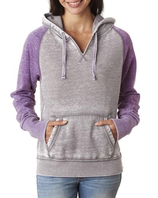 Picture of J America JA8926 Womens Zen Contrast Pullover Hood