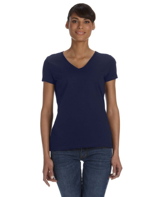 Picture of Fruit of the Loom L39VR Womens 5 oz. HD Cotton V-Neck T-Shirt