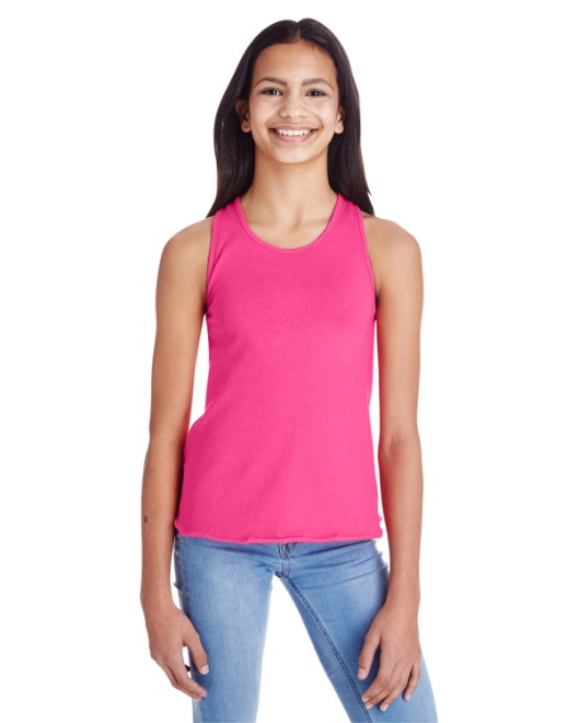 Picture of LAT LA2621 Girls' Relaxed Racerback Premium Jersey Tank