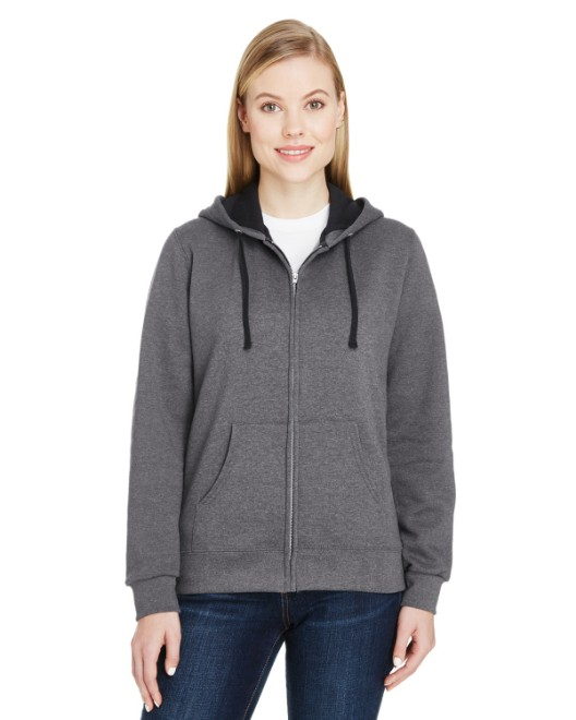 Picture of Fruit of the Loom LSF73R Womens 7.2 oz. Sofspun Full-Zip Hooded Sweatshirt