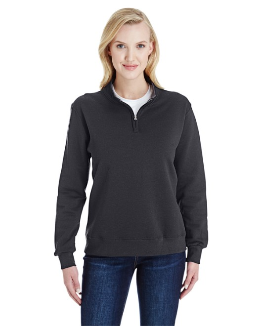 Picture of Fruit of the Loom LSF95R Womens 7.2 oz. Sofspun Quarter-Zip Sweatshirt